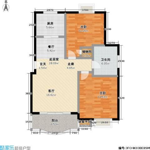 明丰阳光苑2室0厅1卫1厨84.00㎡户型图