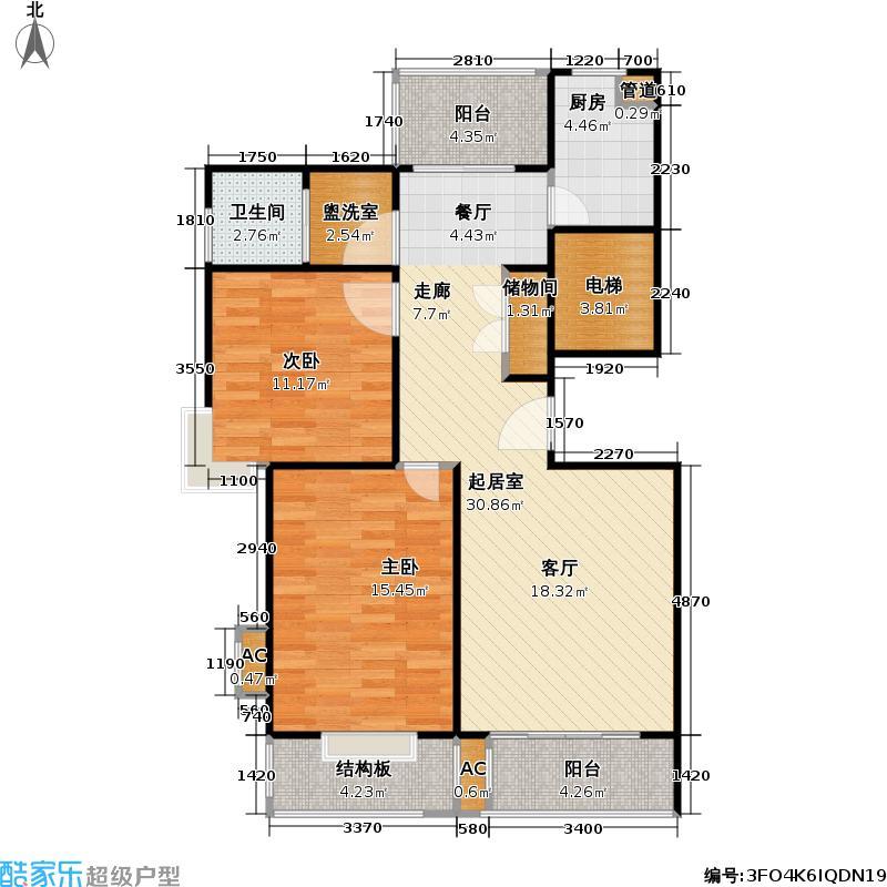 墅沟路888弄94.00㎡房型: 二房; 面积段: 94 -109.88 平方米; 户型