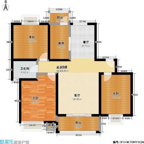 恒大翰城四期3室0厅1卫1厨115.00㎡户型图