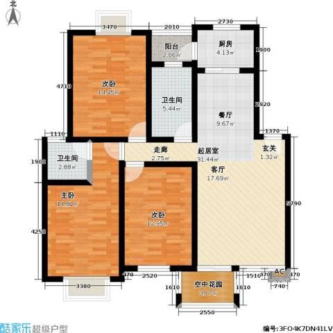 花前树下(三期)3室0厅2卫1厨106.00㎡户型图