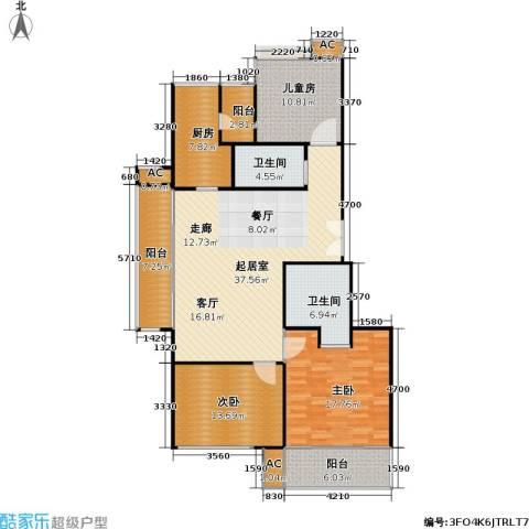 康桥半岛(五期)3室0厅2卫1厨159.00㎡户型图
