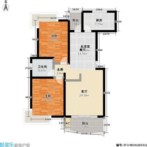 中房三林城 金谊河畔二期2室0厅1卫1厨135.00㎡户型图