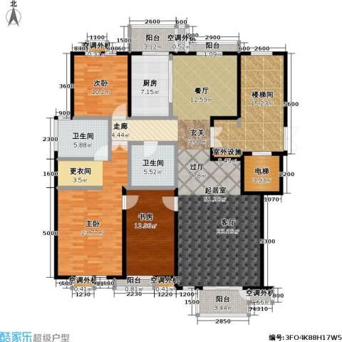 建邦华府3室0厅2卫1厨169.00㎡户型图