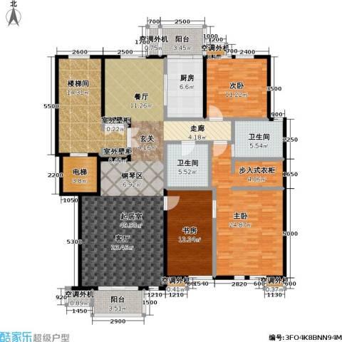 建邦华府3室0厅2卫1厨166.00㎡户型图