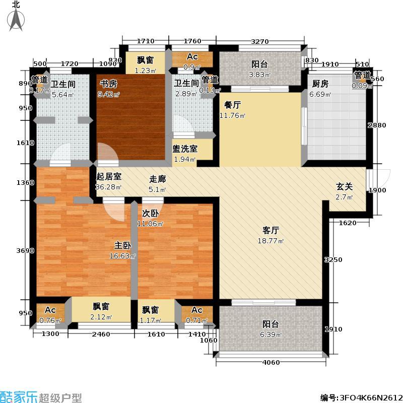新城长岛新城长岛户型图三房两厅两卫121.4㎡(1/57张)户型10室