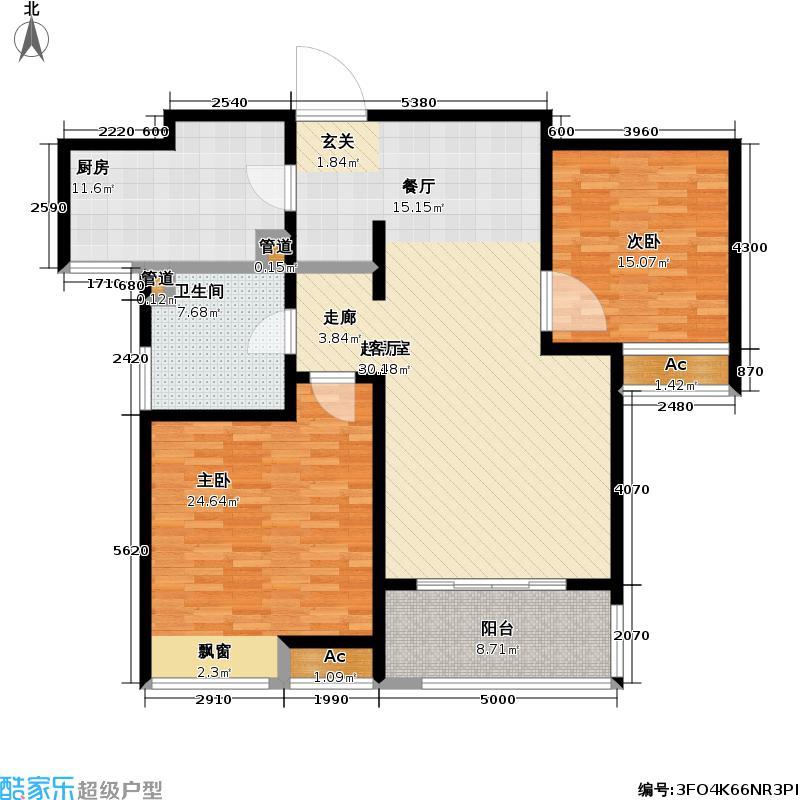 新城长岛新城长岛户型图五期三房二厅二卫-134.5平方米(11/57张)户型10室