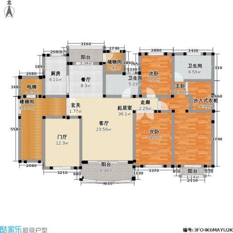 住友宝莲府邸3室0厅2卫1厨167.00㎡户型图