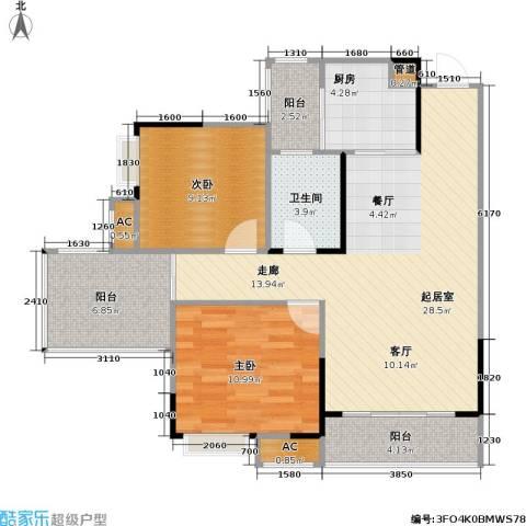 仁安・龙城国际 仁安龙城 龙城国际2室0厅1卫1厨79.00㎡户型图