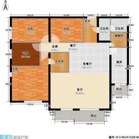 椿树园(尾盘)4室1厅3卫1厨182.00㎡户型图