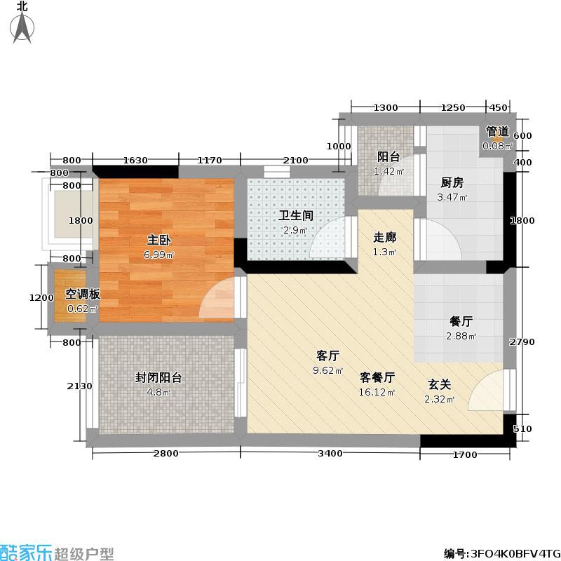 渝能・明日城市明日城市42.84㎡R7C户型