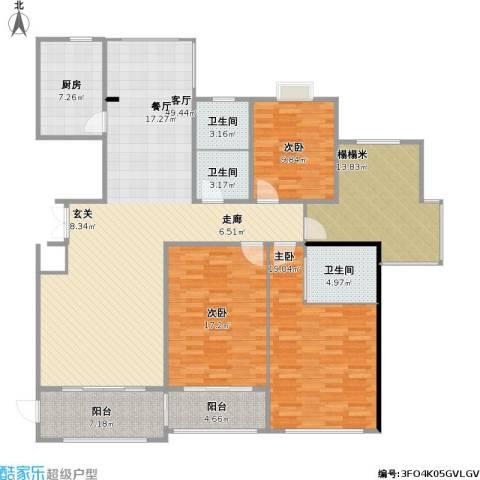泰和天成3室1厅3卫1厨189.00㎡户型图