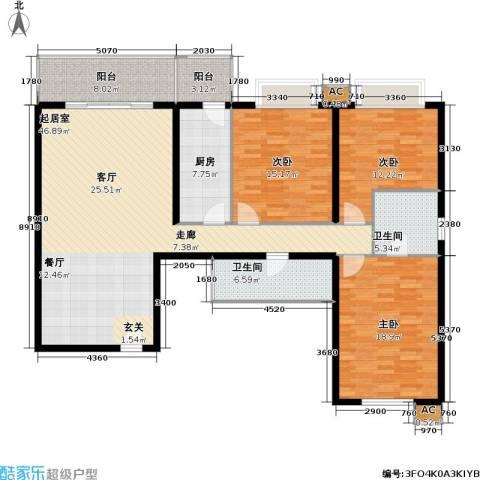 丽水湾畔(尾盘)3室0厅2卫1厨140.00㎡户型图