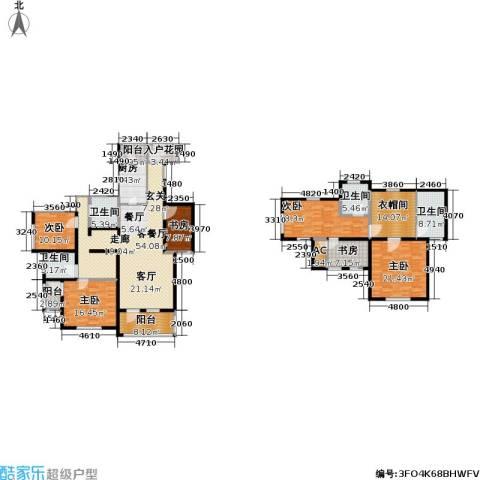 世嘉光织谷6室1厅4卫1厨287.00㎡户型图