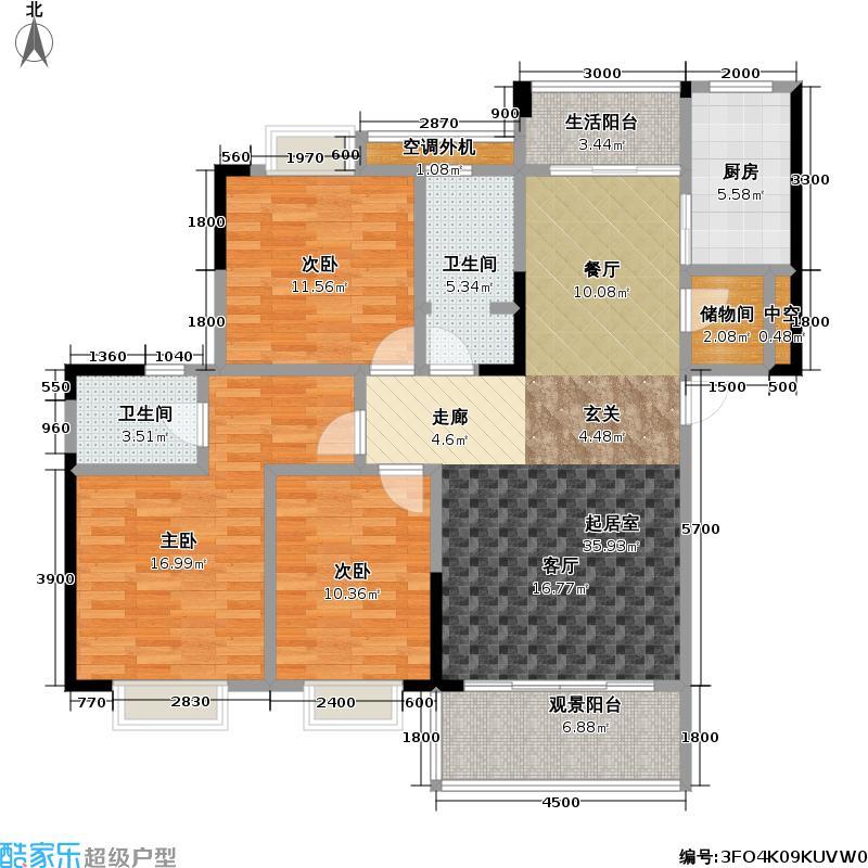 江南・国际新城84.05㎡房型户型