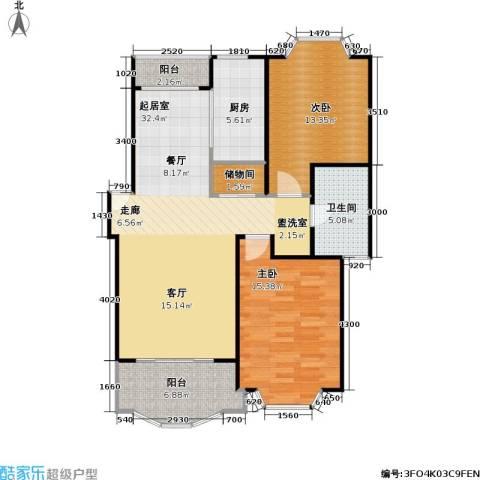 松江世纪新城2室0厅1卫1厨89.00㎡户型图