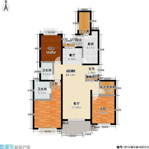 虹桥乐庭三期3室0厅2卫1厨150.00㎡户型图