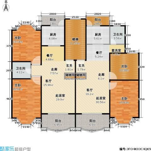 松江世纪新城4室0厅2卫2厨168.88㎡户型图