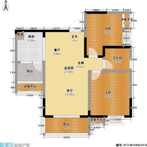保利・康桥2室0厅1卫1厨101.00㎡户型图