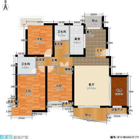 玲珑古北 新贵族名邸4室0厅2卫1厨128.44㎡户型图