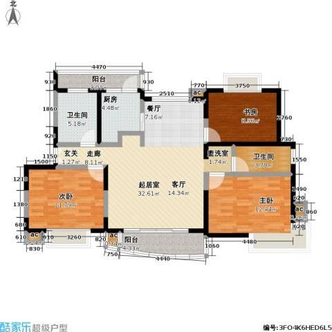 静安晶华园3室0厅2卫1厨106.00㎡户型图