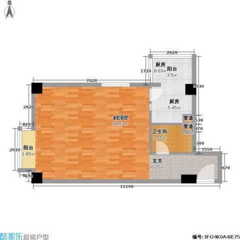 恬心家园(二期)1卫1厨65.00㎡户型图