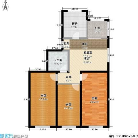 芙蓉花园3室0厅1卫1厨96.00㎡户型图