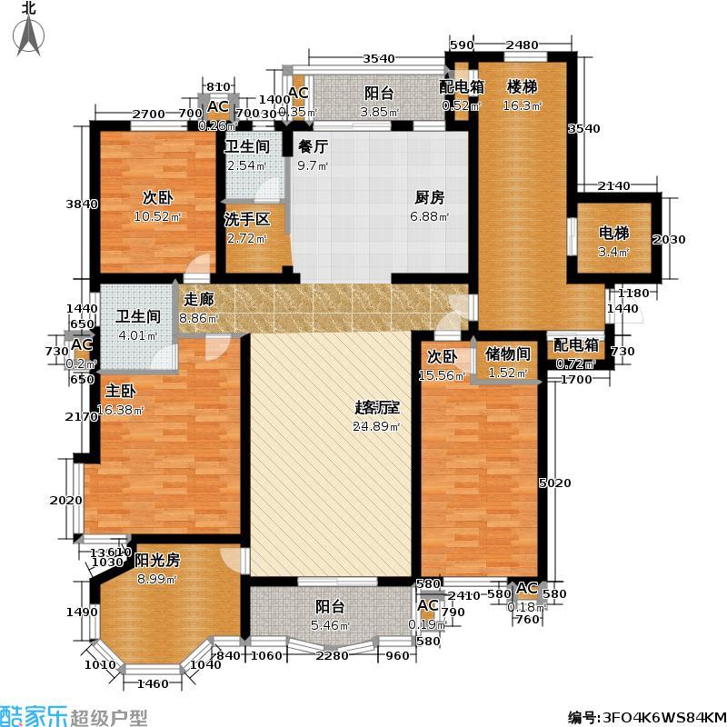 望族苑二期户型3室2卫
