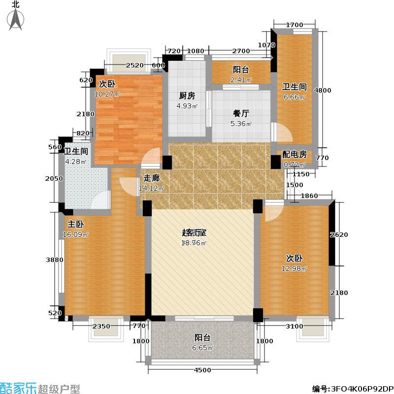 升华现代城户型3室2卫1厨