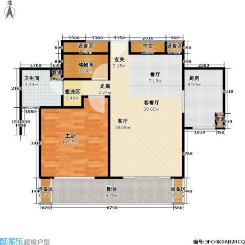海尚逸苑生活街1室1厅1卫1厨100.00㎡户型图