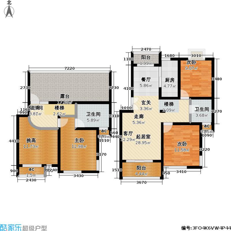 远景时代苑147.10㎡房型: 复式; 面积段: 147.1 -180.68 平方米;户型