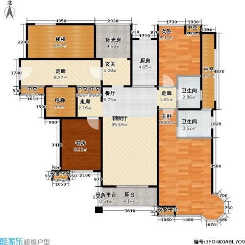 新江湾佳苑3室1厅2卫1厨120.00㎡户型图