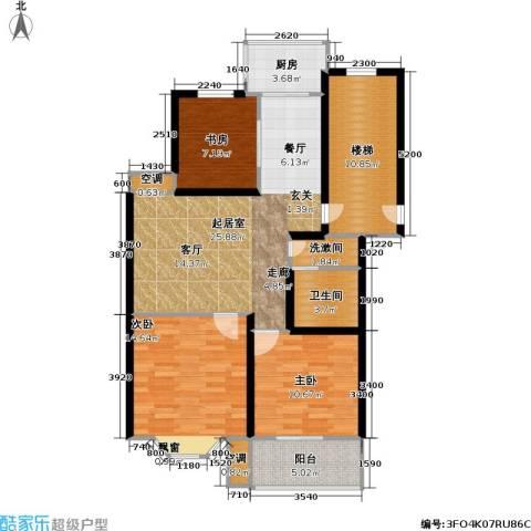 腾泰雅苑3室0厅1卫1厨95.00㎡户型图
