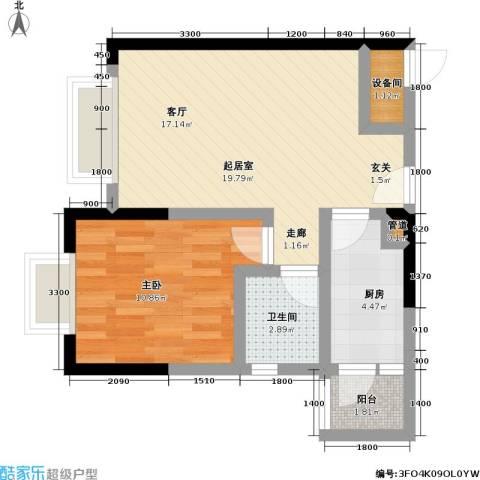 佳乐园住宅小区1室0厅1卫1厨46.00㎡户型图