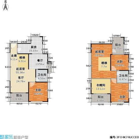 一品名门云墅3室0厅2卫1厨211.00㎡户型图