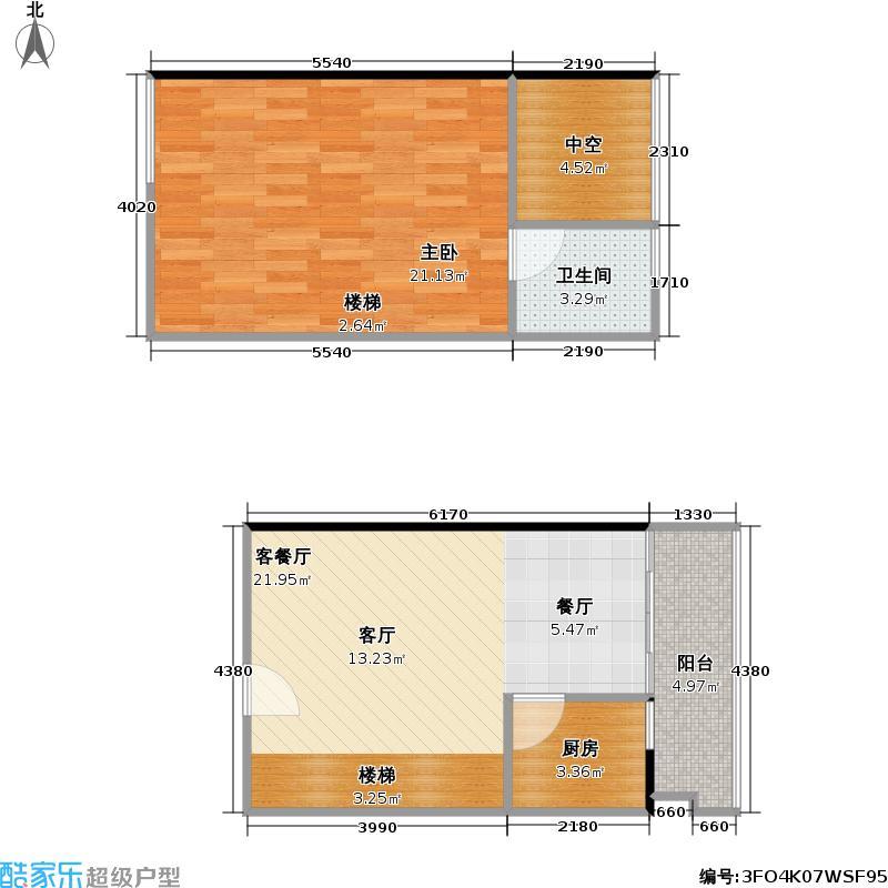 理想青年荟大厦42.09㎡E08、09、16、17户型