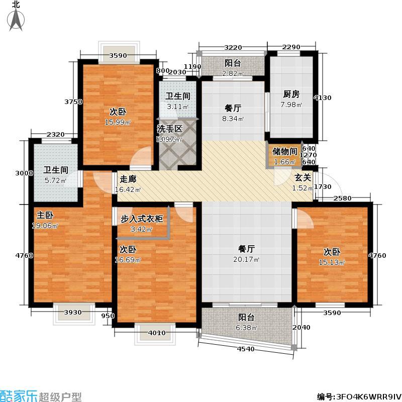 枫桦景苑二期房型户型4室1厅2卫1厨