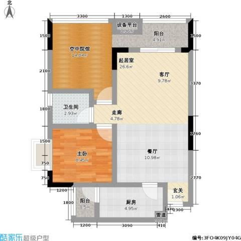 佳乐园住宅小区1室0厅1卫1厨61.00㎡户型图