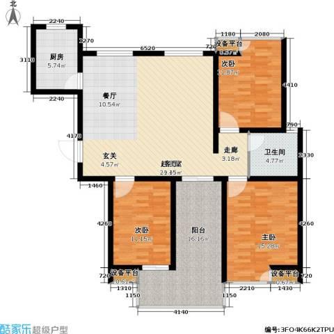 香江壹品3室0厅1卫1厨150.00㎡户型图