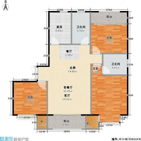 山海听涛3室1厅2卫1厨133.00㎡户型图