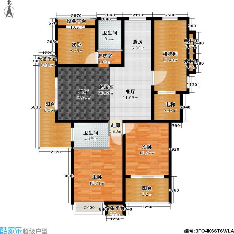 新城南都新城南都户型图119平方米(26/30张)户型10室