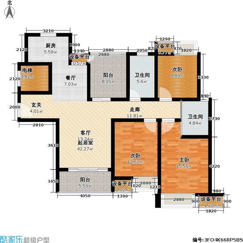 新城南都128.98㎡新城南都户型图三房二厅二卫-128.98平方米-34套(4/10张)户型10室