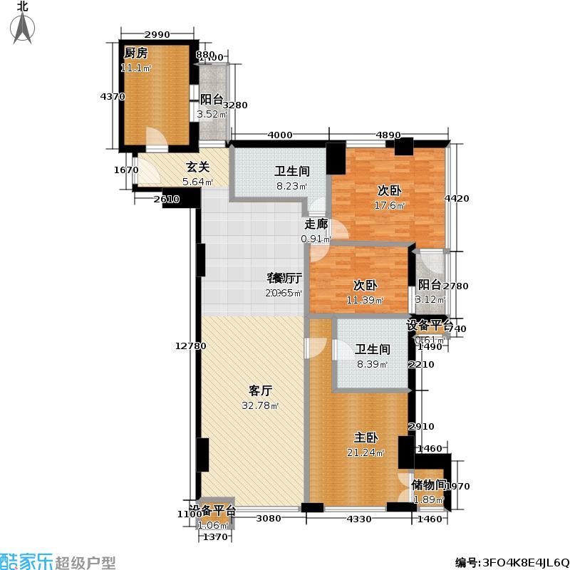 和平新城169.68㎡三室-两厅-两卫户型