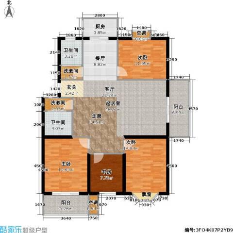 腾泰雅苑4室0厅2卫1厨124.23㎡户型图