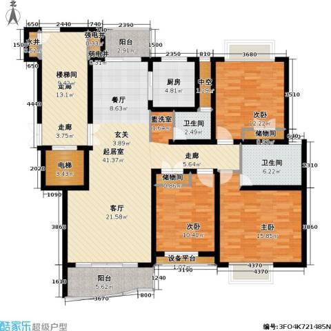 香榭水岸四期公寓3室0厅2卫1厨180.00㎡户型图