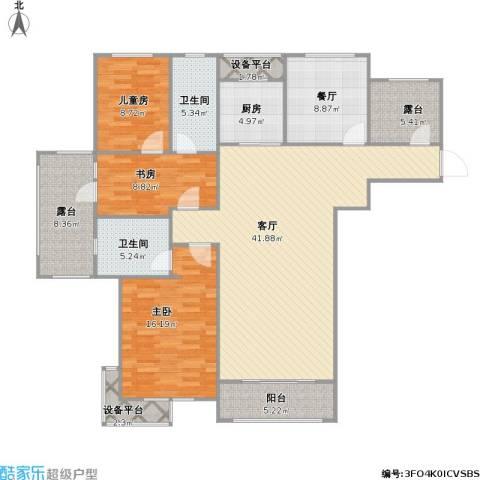 富立・秦皇半岛3室2厅2卫1厨167.00㎡户型图