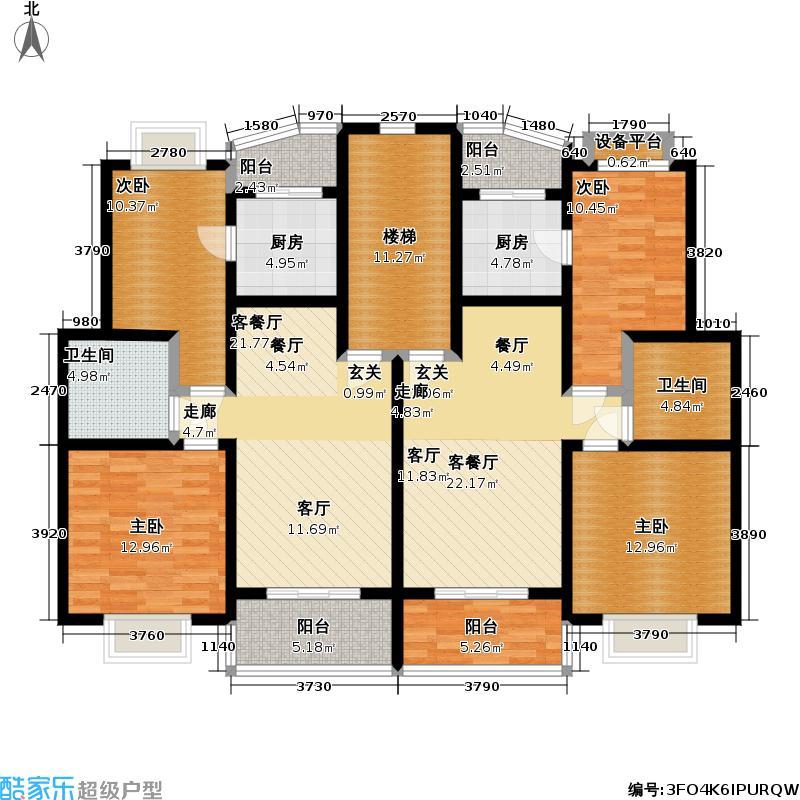 同盛公寓80.00㎡房型: 二房; 面积段: 80 -90 平方米; 户型