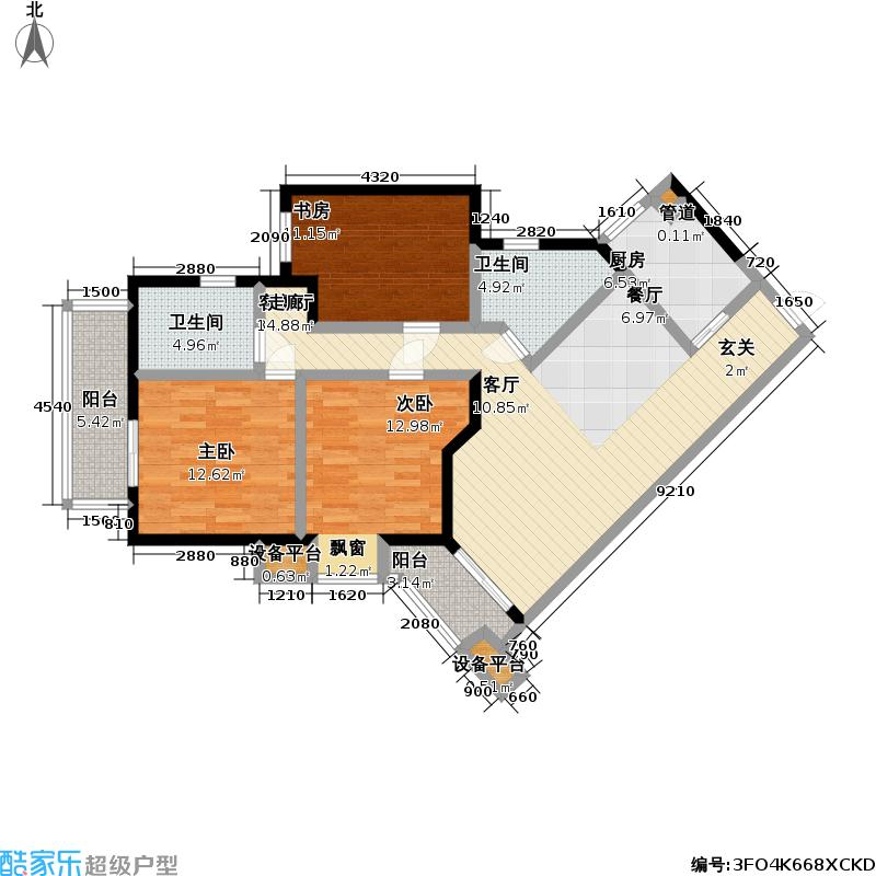 莱蒙名骏户型3室1厅2卫1厨