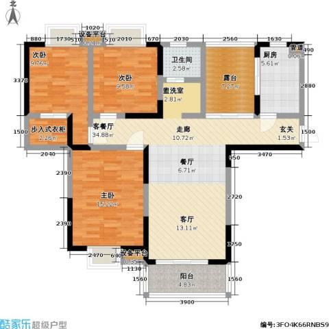 御源林城3室1厅1卫1厨109.00㎡户型图