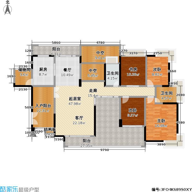 熙龙湾二期熙龙湾二期户型图四房两厅两卫(27/28张)户型10室
