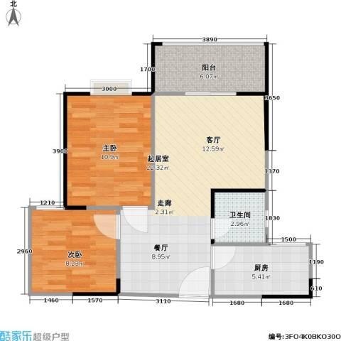 盛景郦城 昌福・盛景郦城2室0厅1卫1厨73.00㎡户型图